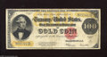 Large Size:Gold Certificates, Fr. 1215 $100 1922 Gold Certificate Fine. The edges are nice forthe grade, while a few pinholes are spotted....