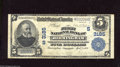 National Bank Notes:Alabama, Birmingham, AL - $5 1902 Plain Back Fr. 598 The First NB Ch. # (S)3185 A back quarter panel shows light soiling on this...