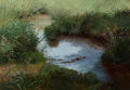 Paintings, Lanford Monroe (American, 1950-2000). Stream, 1983. Oil on panel. 23-3/4 x 35-1/2 inches (60.3 x 90.2 cm). Signed and da...