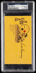 Autographs:Index Cards, 1980-88 Art Rooney Signed Pittsburgh Steelers Envelope, PSA/DNA Authentic. . ...