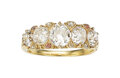 Estate Jewelry:Rings, Antique Diamond, Gold Ring The ring features f...