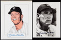Autographs:Photos, Mickey Mantle & Ted Williams Signed Photograph Lot of 2.. ...