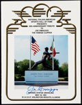 Baseball Collectibles:Publications, Joe DiMaggio Signed Italian American Hall of Fame Program.. ...