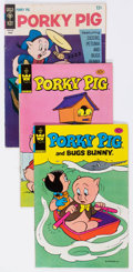 Bronze Age (1970-1979):Cartoon Character, Porky Pig Box Lot (Gold Key, 1967-84) Condition: Average VG+....