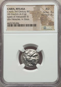 Ancients:Greek, Ancients: CARIA. Mylasa. Ca. early 3rd century BC. AR drachm (4.21gm). NGC AU 4/5 - 4/5....