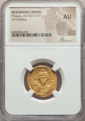 Ancients:Byzantine, Ancients: Phocas (AD 602-610). AV solidus. NGC AU....
