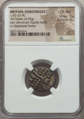 Ancients:Celtic, Ancients: BRITAIN. Durotriges. Ca. 60 BC-AD 20. AR stater (4.93gm).NGC Choice AU 5/5 - 4/5....