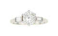 Estate Jewelry:Rings, Diamond, Platinum, White Gold Ring, French The...