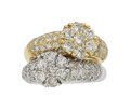 Estate Jewelry:Rings, Diamond, Gold Ring The ring features round bri...