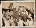 Football Collectibles:Photos, 1940 NFL Championship: Bears Defeat Redskins 73-0, Vintage Photograph.. ...