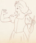 Animation Art:Production Drawing, Blanche Neige et les Sept Nains Dessin d'animation (Walt Disney, 1937)....
