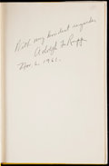 Autographs:Others, Adolph Rupp Signed Book. . ...