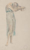 Fine Art - Work on Paper:Drawing, Maurice Sterne (American, 1878-1957). Dancer. Pastel andpencil on paper. 18-1/2 x 11-1/2 inches (47...