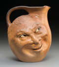Ceramics & Porcelain, A Large Martin Brothers Stoneware Double-Sided Face Jug, Southall, England, circa 1898. Marks: Martin Bros, London T South...