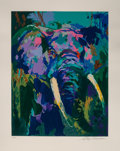 Fine Art - Work on Paper:Print, LeRoy Neiman (American, 1921-2012). Portrait of an Elephant.Serigraph in colors on wove paper. 28-1/8 x 23-1/4 inches (...