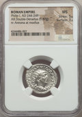 Ancients:Ancient Lots , Ancients: ANCIENT LOTS. Roman Imperial. Philip I (AD 244-249). Lotof two (2) AR antoniniani. NGC MS.... (Total: 2 coins)