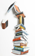 Post-War & Contemporary:Sculpture, Julian Opie (b. 1958). Incident in the Library II, 1983. Oilon steel. 69-1/2 x 31 x 8-1/2 inches (176.5 x 78.7 x 21.6 c...(Total: 2 Sets)