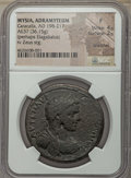 Ancients:Roman Provincial , Ancients: MYSIA. Adramyteum. Caracalla (AD 198-217) or Elagabalus(AD 218-222). AE medallion (37mm, 36.15 gm). NGC Fine 4/5 - 2/5,scrat...