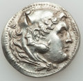 Ancients:Greek, Ancients: MACEDONIAN KINGDOM. Alexander III the Great (336-323 BC).AR tetradrachm (16.97 gm). AU, test cut....