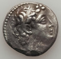 Ancients:Ancient Lots  , Ancients: ANCIENT LOTS. Seleucid Kingdom. Ca. 2nd century BC. Lot of two (2) AR tetradrachms. About VF-VF, porosity, edge chips.... (Total: 2 coins)