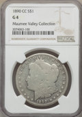 1890-CC $1 Good 4 NGC. NGC Census: (78/7126). PCGS Population: (71/13380). Good 4 . Mintage 2,309,041. From The Maume...