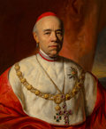 Fine Art - Painting, European:Antique  (Pre 1900), Carl von Blaas (Austrian, 1815-1894). Portrait of JohnScitowski, Archbishop of Gran and Primate of Hungary, and Cardinal...