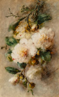 Works on Paper, Margaretha Vogel Roosenboom (Dutch, 1843-1896). A spray of camellias hanging from a nail, circa 1892-96. Watercolor on p...