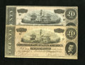Confederate Notes:1864 Issues, T67 $20 1864 Two Examples. There is a Series 2 and a VI Series note in this lot. The Series 2 note has a portion of a Confed... (Total: 2 notes)