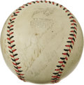 Autographs:Baseballs, 1942 Boston Red Sox Legends Signed Baseball with Foxx, Williams. You should be banned from the gates of Fenway if you don't...