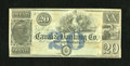 Obsoletes By State:Louisiana, New Orleans, LA- Canal & Banking Co. $20 18__. This popular type boasts a central vignette with Liberty and an Eagle at cent...