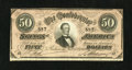 Confederate Notes:1864 Issues, T66 $50 1864. Serial number 597 graces this $50. Very Fine....