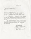 "Movie/TV Memorabilia:Autographs and Signed Items, Al Pacino Signed ""Serpico"" Contract. One-page agreement between AlPAcino and Produzione DeLaurentiis International, dated J..."