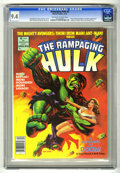 Magazines:Superhero, The Rampaging Hulk #8 (Marvel, 1978) CGC NM 9.4 Off-white to whitepages. Includes a pin-up gallery of famous Hulk guest sta...