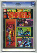 Magazines:Horror, Vampirella #26 (Warren, 1973) CGC FN/VF 7.0 Off-white to white pages. Eight page color story. Auraleon frontispiece and inte...