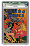 Golden Age (1938-1955):Adventure, Jumbo Comics #103 (Fiction House, 1947) CGC Qualified VG/FN 5.0 Cream to off-white pages. Matt Baker, Jack Kamen, and Robert...