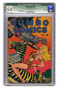 Jumbo Comics #103 (Fiction House, 1947) CGC Qualified VG/FN 5.0 Cream to off-white pages. Matt Baker, Jack Kamen, and Ro...