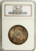 Bust Half Dollars: , 1832 50C Large Letters MS62 NGC. O-101, R.1. A lustrous and smoothrepresentative of the sole Large Letters variety for the...