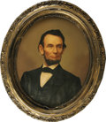 Political:3D & Other Display (pre-1896), Abraham Lincoln: A Gorgeous 1864-Dated Chromo-Lithograph on Canvas.This remarkable process came into use during the Civil W...