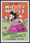 "Movie Posters:Animated, Barnyard Olympics (Columbia, 1932). Fine Art Seriagraph circa 1980s(21"" X 30.5""). Animated Comedy. Starring the voices of W..."