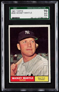 Baseball Cards:Singles (1960-1969), 1961 Topps Mickey Mantle #300 SGC 70 EX+ 5.5....