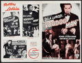 """Movie Posters:Horror, Voodoo Man (Astor, R-1940s). Uncut Pressbook (4 Pages, 11"""" X 17""""),Photo, Reproduction Photos (4) (8"""" X 10""""), & Cut Ad Suppl...(Total: 7 Items)"""