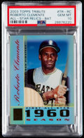 Baseball Cards:Singles (1970-Now), 2002 Topps Tribute Roberto Clemente All-Star Bat Relics #TR-RC PSA Gem Mint 10....