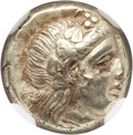 Ancients:Greek, Ancients: LESBOS. Mytilene. Ca. 377-326 BC. EL sixth stater orhecte (2.55 gm). NGC Choice XF 4/5 - 4/5....