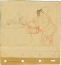 "animation art:Production Cel, ""Snow White and the Seven Dwarfs"" Animation Concept Sketch OriginalArt (Disney, 1937). ..."