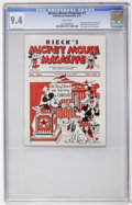 Platinum Age (1897-1937):Miscellaneous, Mickey Mouse Magazine V1#7 (Walt Disney Productions, 1934) CGC NM9.4 White pages....