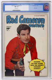 Rod Cameron Western #1 (Fawcett, 1950) CGC NM- 9.2 Off-white pages