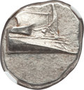 Ancients:Greek, Ancients: LYCIA. Phaselis. Ca. 4th century BC. AR stater (10.33gm). NGC Choice AU 4/5 - 4/5, die shift....