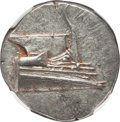 Ancients:Greek, Ancients: LYCIA. Phaselis. Ca. 4th century BC. AR stater (10.31gm). NGC MS 4/5 - 4/5, die shift....
