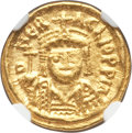 Ancients:Byzantine, Ancients: Heraclius (AD 610-641). AV solidus (14mm, 4.44 gm, 6h).NGC AU 3/5 - 3/5....
