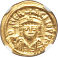 Ancients:Byzantine, Ancients: Heraclius (AD 610-641). AV solidus (4.47 gm). NGC MS 3/5 - 3/5. ...
